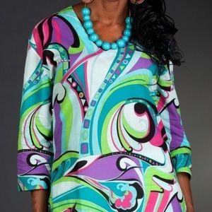 Tracy Negoshian turquoise tunic
